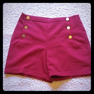 H&M red sailor style shorts. Size 10